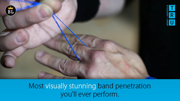 Rubber band penetration trick