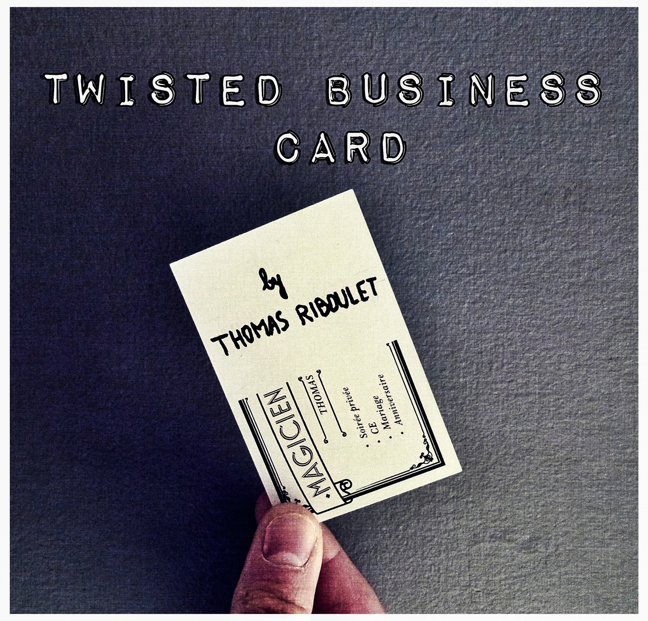 Twisted Business Card by Thomas Riboulet Instant Download
