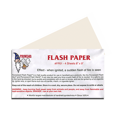magic flash paper for sale Flash paper magic – flash paper 8×9 inch and 2 x 3 inch sheets will create  special effects of fire this magic paper bursts into flames for the.
