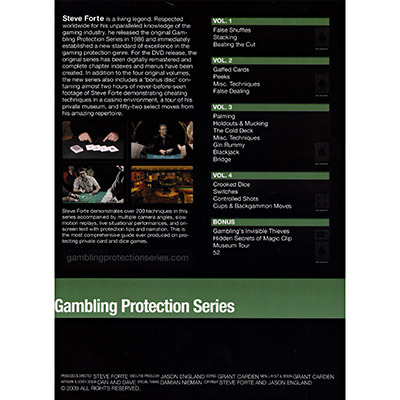 Gambling protection series vol 1 by steve forte gary casino parties equipment