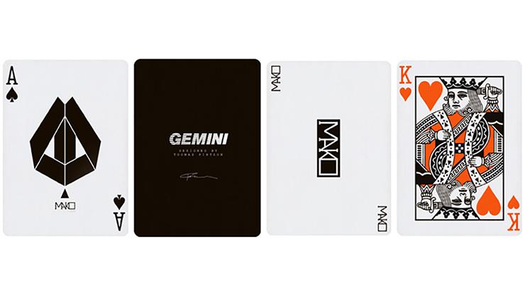 Kết quả hình ảnh cho MAKO RED & BLACK PLAYING CARDS