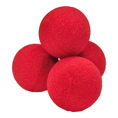 Red Squishy Ball : 1.5 inch High Density Ultra Soft Sponge Ball (Red) Pack of 4 from Magic by Gosh
